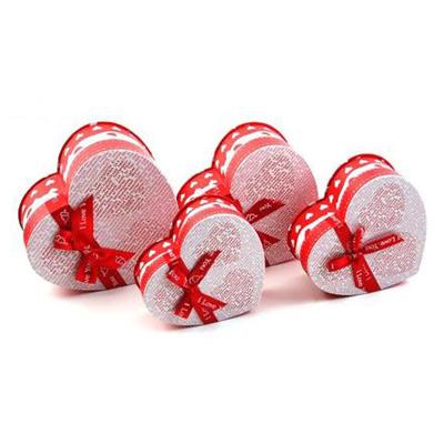 Коробка — сердце 4 в 1, газета с красным бантом