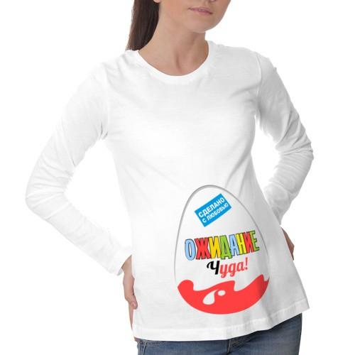 Футболка для беременных с длинным рукавом Ожидание чуда