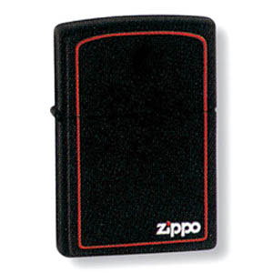 Зажигалка бензиновая Zippo BLK W/BORDER