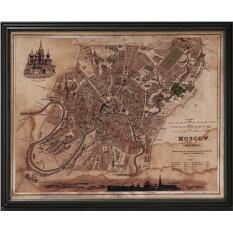 Старинная карта Москвы
