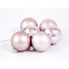 Набор ёлочных игрушек Шары серебряного цвета