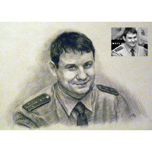 Военный портрет по фото на заказ