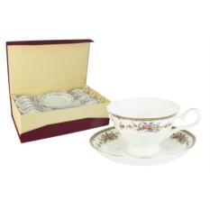 Набор из 6 чайных пар Изабелла Emerald