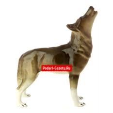 Фарфоровая статуэтка Волк стоящий