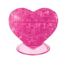 Головоломка 3D-пазл «Сердце» розовое