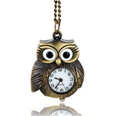 Бронзовые часы в виде совы