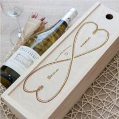 Коробка для вина с гравировкой Бесконечность