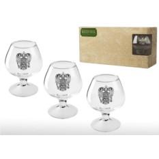 Подарочный набор бокалов для коньяка и бренди Русь
