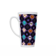 Фиолетовая кружка Латте Happy Halloween