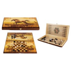 Настольная игра Скакун: нарды, шашки , размер 40х20см