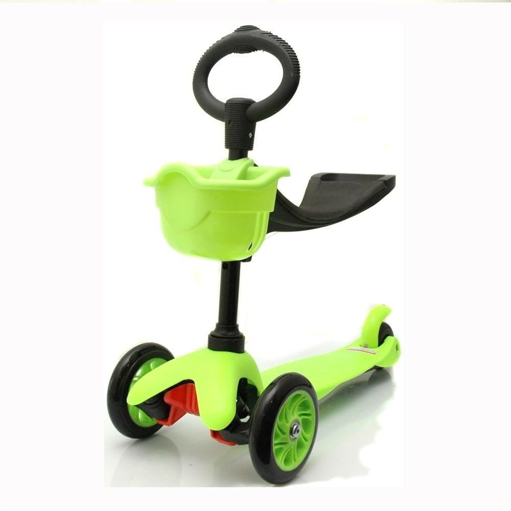 Детский трехколесный самокат Scooter 506 (цвет — зеленый)
