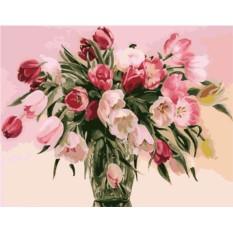 Картина по номерам Menglei «Тюльпаны»