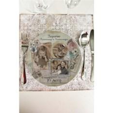 Декоративная тарелка с вашим текстом Shabby Chic