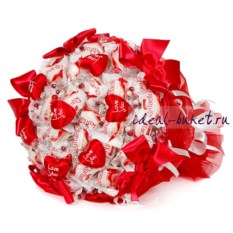 Букет конфет с сердечками Love You