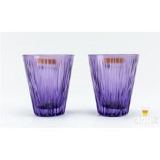 Набор низких стаканов из хрусталя Lines Violet