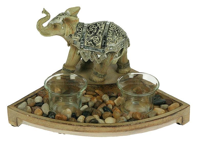 Подсвечник Африканский слон на 2 свечи