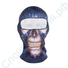 Лыжная маска-балаклава с рисунком Череп