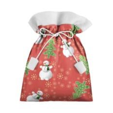 Подарочный 3D мешок с изображением снеговика