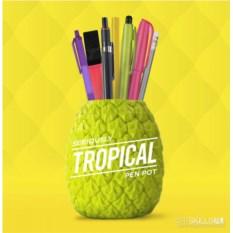 Зеленый органайзер для рабочего стола Tropical
