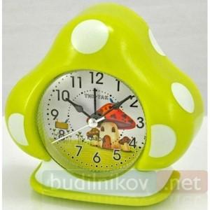 Детский кварцевый будильник Тик-Так домик (зеленый)