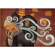 Открытка с конвертом Магия книг