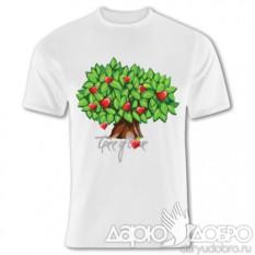 Белая мужская футболка Дерево Любви от iCalistini