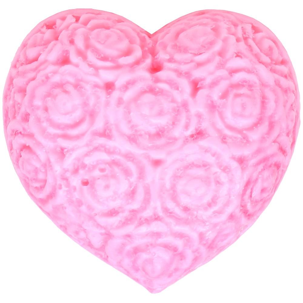 Туалетное мыло ручной работы «Сердце из роз»