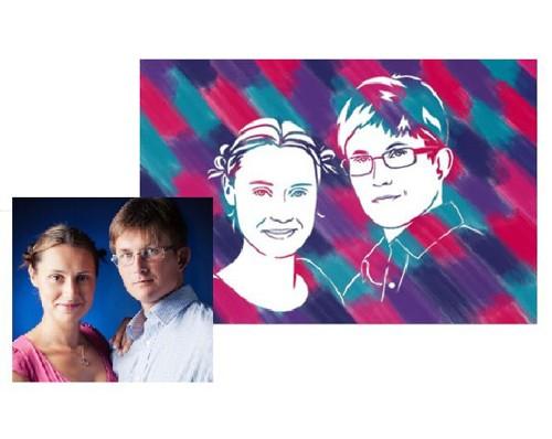 Набор художника для рисования по фотографии семьи