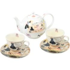 Женский элитный чайный сервиз «Высокая мода»
