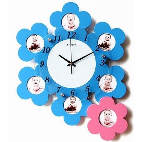 Часы с фото Цветы жизни