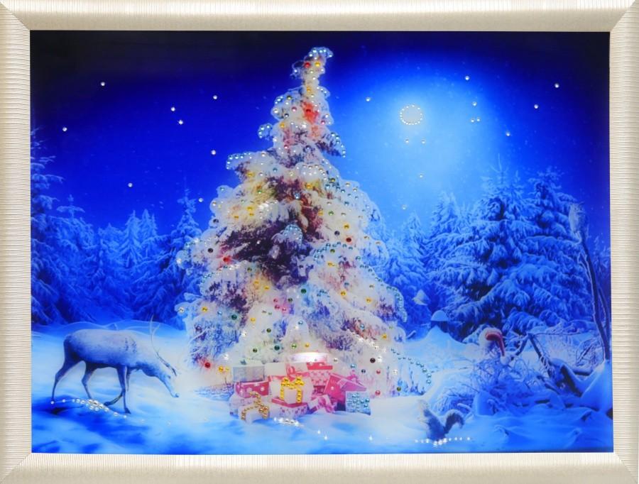 Картина с кристаллами Сваровски Рождественский лес