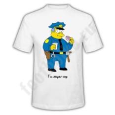 Мужская футболка I am super cop симпсон