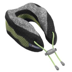 Черно-серая подушка под шею для путешествий CaBeau Evolution