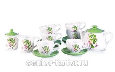 Чайный сервиз DeFanCe (Амарант) на 6 персон