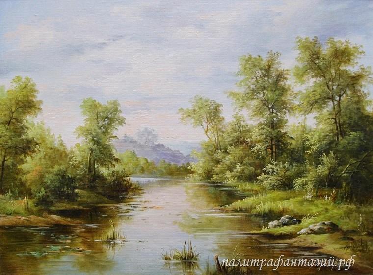 Картина Летний день на реке