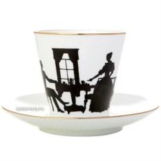 Кофейная чашка с блюдцем Вдвоем (фарфор)