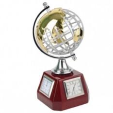 Погодная станция с часами, термометром, гигрометром «Глобус»
