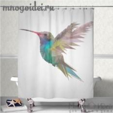 Шторка для ванной комнаты Парящий колибри