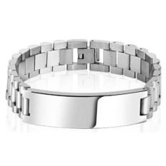 Стильный браслет со стальной пластиной