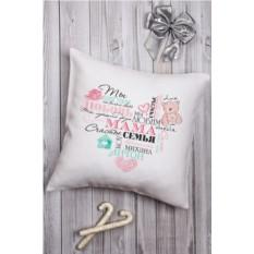 Декоративная подушка с Вашим именем Теплое сердце
