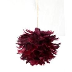 Елочная игрушка Шар бордового цвета