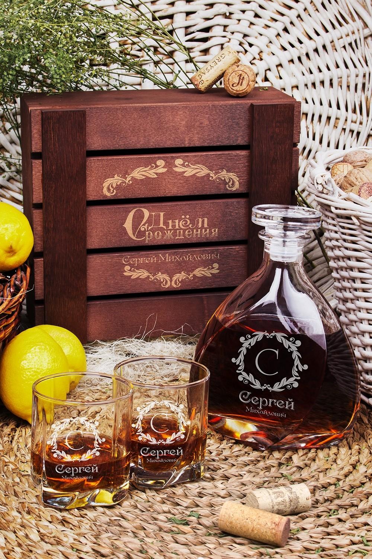 Подарочный набор для виски с именной гравировкой Винтаж