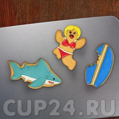 Форма для печенья Акула  (набор 3 шт.)