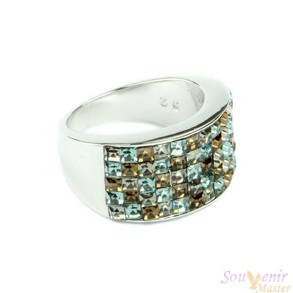 Кольцо с кристаллами Swarovski Xilion