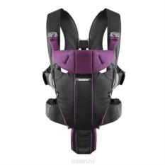 Черно-лиловый рюкзак-кенгуру BabyBjorn Miracle soft сotton