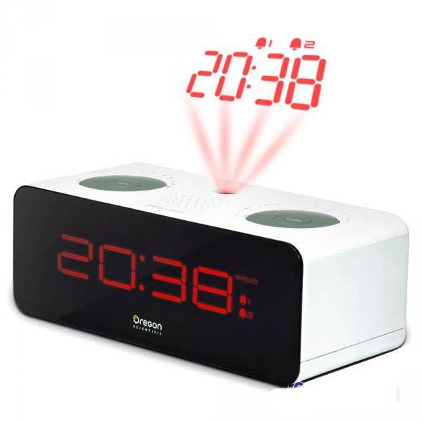 Проекционные часы с будильником и FM-радио