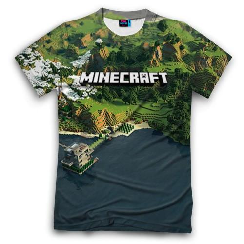 Мужская футболка 3D с полной запечаткой Minecraft