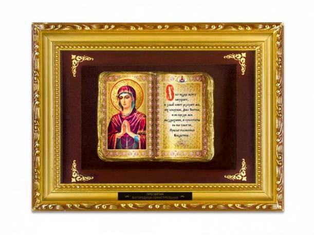 Религиозное панно Богородица Семистрельная