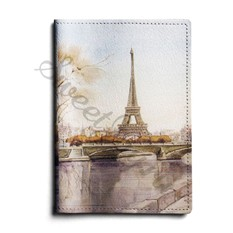 Кожаная обложка для автодокументов Paris