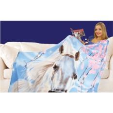 Плед флисовый Лошадь